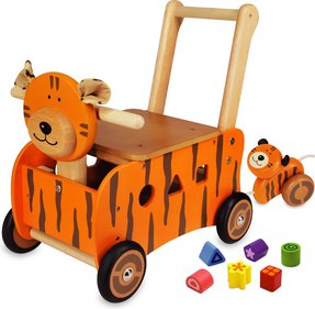 I'm Toy Tiger Push trolley