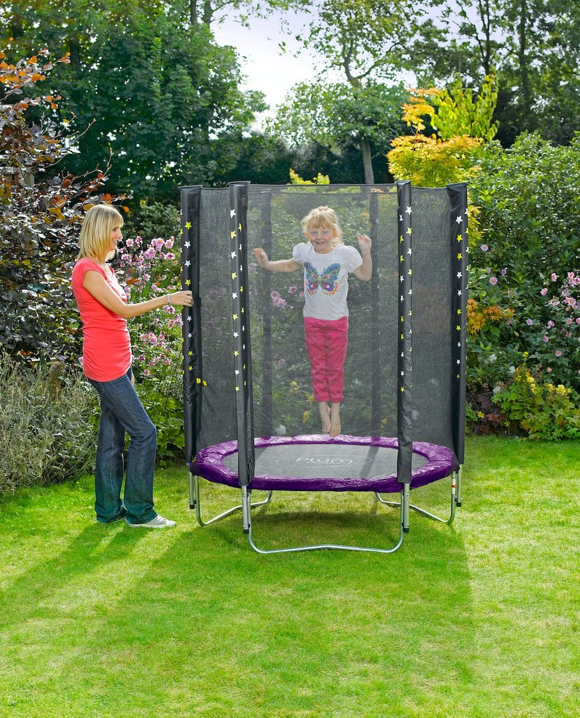Plum Stardust trampoline with safety net