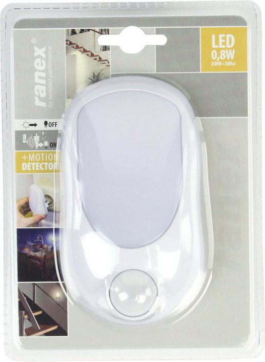 Ranex 6000.293 LED night light with motion detector
