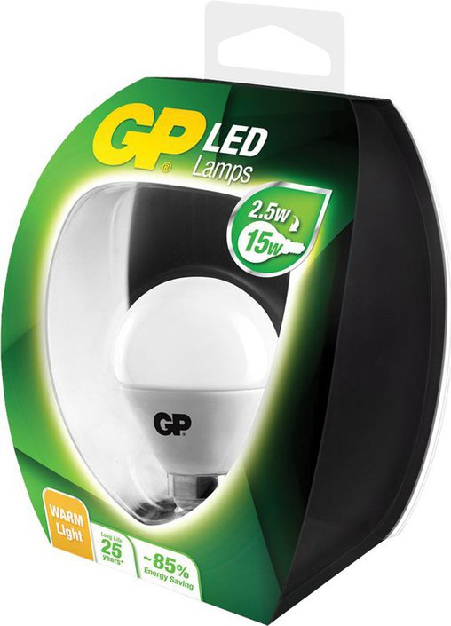 GP LED-lamp mini bol E14 2,5 W