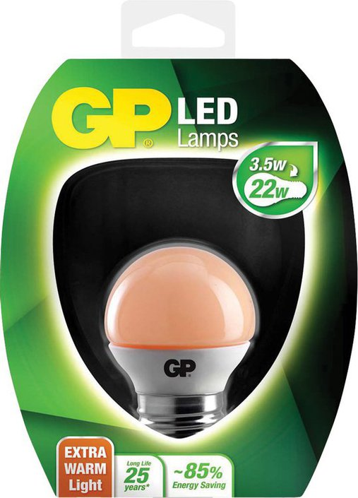 GP LED-lamp extra warm mini bol E27 3,5 W