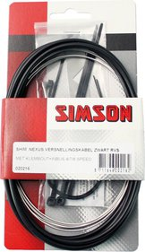 Simson acceler cable Nexus stainless steel black