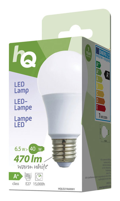 HQ LED-lamp A60 E27 2700K