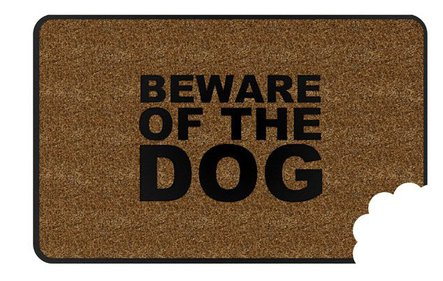 Balvi Beware of the Dog doormat