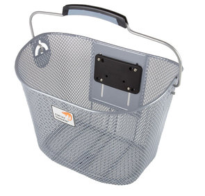 New Looxs Tuscany bicycle basket silver