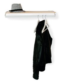 Leitmotiv Coatrack Outline Steel - Grey