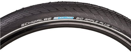 Schwalbe Big Apple tires reflective, black, 28 X 2:00, 11,100,668