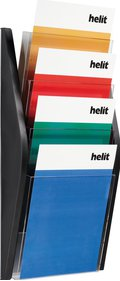 Helit 4xA4 Wall display brochure rack