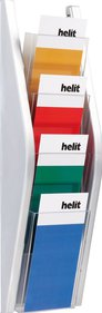 Helit Wall display 4x 1/3 A4 folder rack