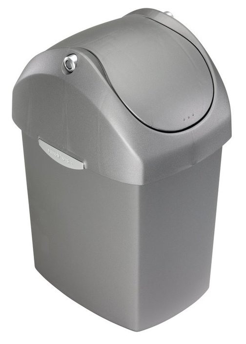 Simplehuman Swing Lid Plastic Can 8 liter