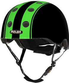 Melon Double Green Black bicycle helmet
