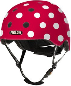 Melon Dotty White fietshelm