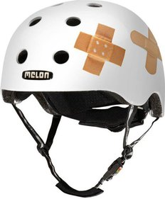 Melon Plastered White bicycle helmet