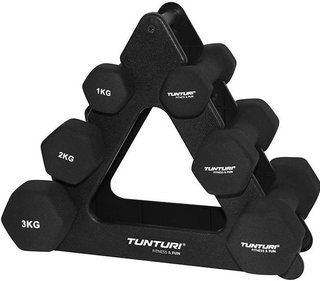 Tunturi Neoprene Dumbell set with stand