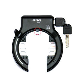 ds Axa ring lock Solid black
