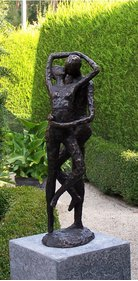 BronZartes Kissing Love couple garden image