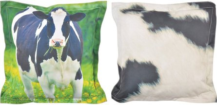 Esschert Design Nature Print Cow throw pillow