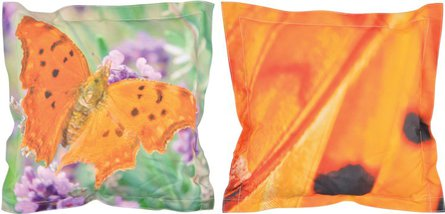 Esschert Design Nature Print Butterfly throw pillow