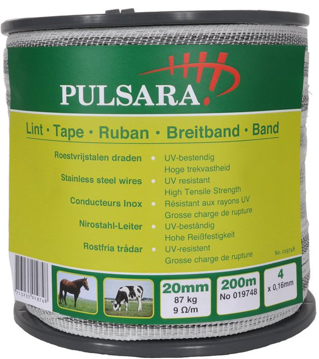Pulsara 20mm wit lint