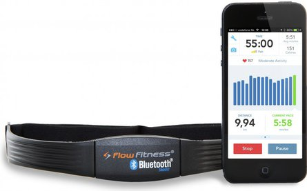 Flow Fitness Bluetooth 4.0 hjärtfrekvensbälte