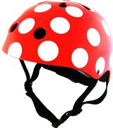 Kiddimoto Red Dotty kinderhelm