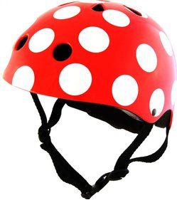 Capacete infantil Kiddimoto Red Dotty