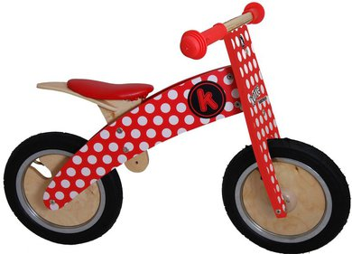 Kiddimoto Kurve Red Dotty balance bike
