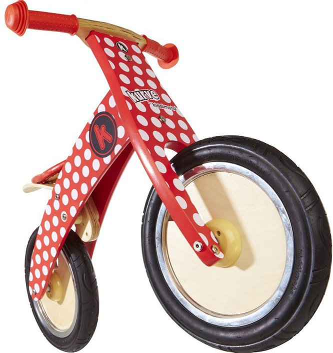 Kiddimoto Kurve Red Dotty loopfiets