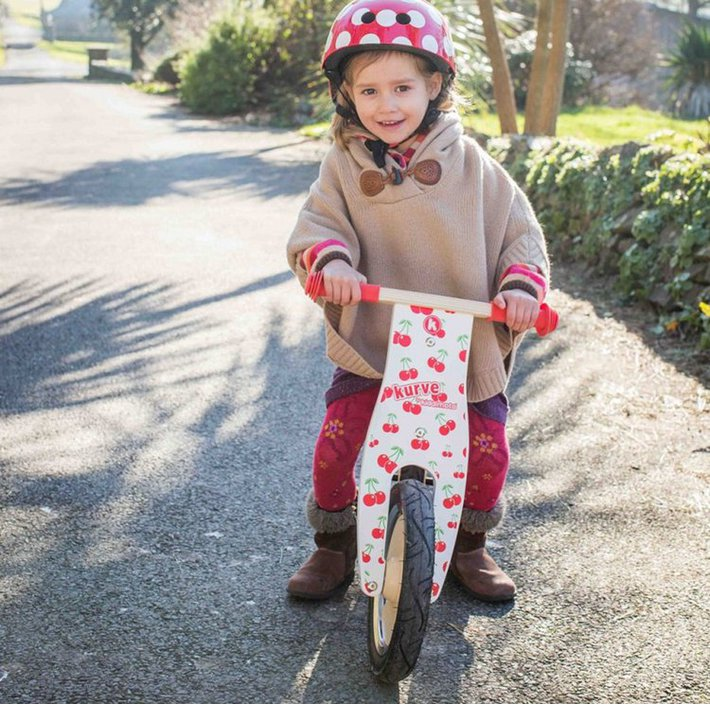 Kiddimoto Kurve Cherry loopfiets