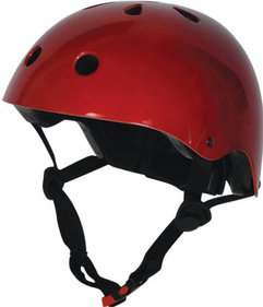 Kiddimoto Metallic Red barnhjälm
