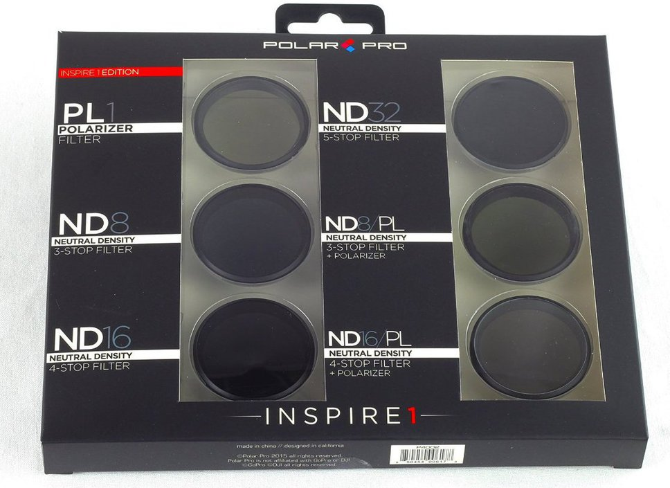 Polar Pro DJI Inspire 1 Limited Edition filter 6-pack