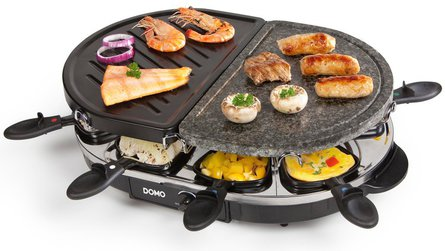 Domo Steengrill-grill-raclette gourmetset