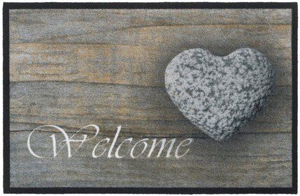 Hamat Mondial Welcome Stone Heart Fußmatte