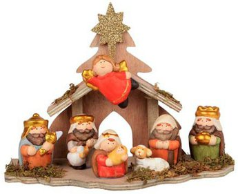 Colorful nativity scene