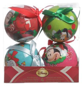 Disney Mickey 4 Christmas baubles