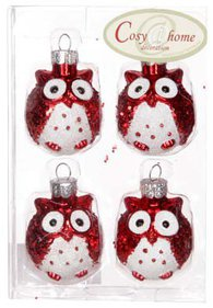 Owl Christmas tree bauble
