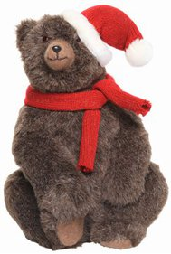 Bear with Christmas hat Christmas decoration