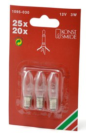 Konstsmide Blister Van 3 Replacement Lamps for String of Candles Outdoor