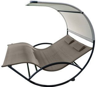 Vivere Double Chaise Rocker Alu rocking chair