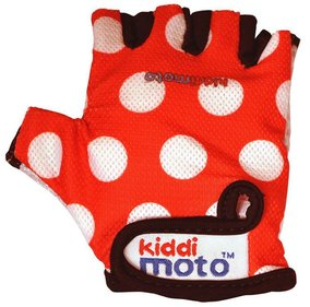 Kiddimoto Red Dotty fietshandschoenen