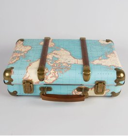 Lighthouse Trading Retro Globe Children's Suitcase
