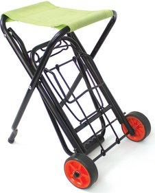 Yellowstone luggage trolley with seat