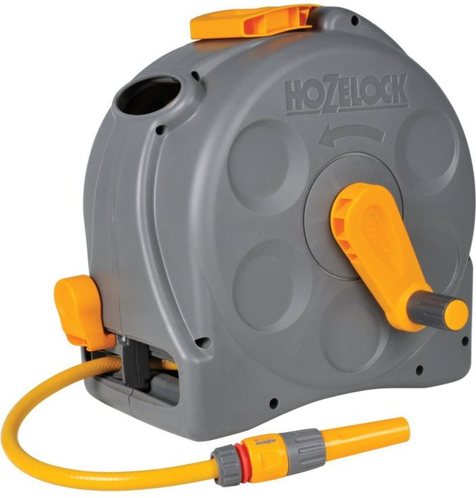 Hozelock Compact Enclosed Reel 2 in 1 + 25M hose