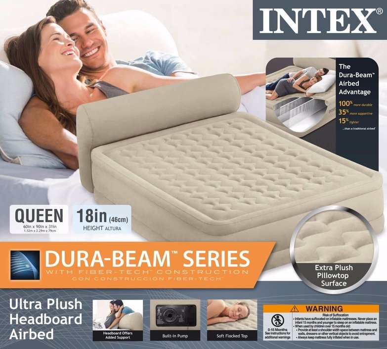 Intex Dura-Beam Headboard Bed Queen-Size