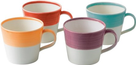 Royal Doulton 1815 mug Brights 450ml - set di 4