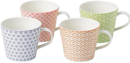 Royal Doulton pastels mok 450ml - set van 4