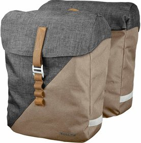 Racktime Heda double bicycle bag gray / beige