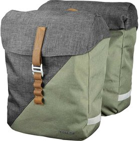 Racktime Heda double bicycle bag green