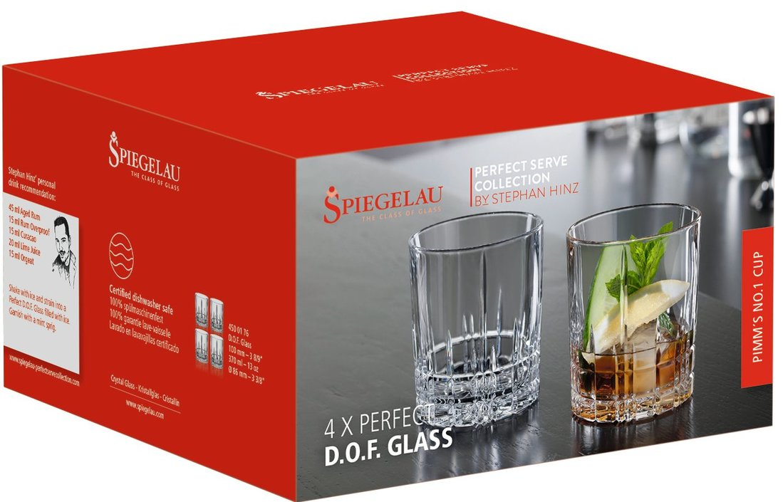 Spiegelau Perfect Serve Collection whiskeyglas - set van 4