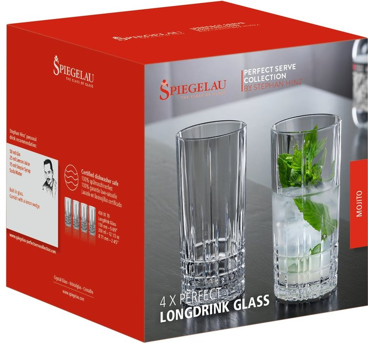 Spiegelau Perfect Serve Collection longdrinkglas - set van 4